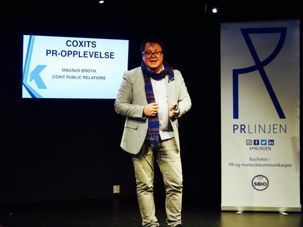 Magnus Brøyn fra CoxitPR presenterer Coxit PR-opplevelse