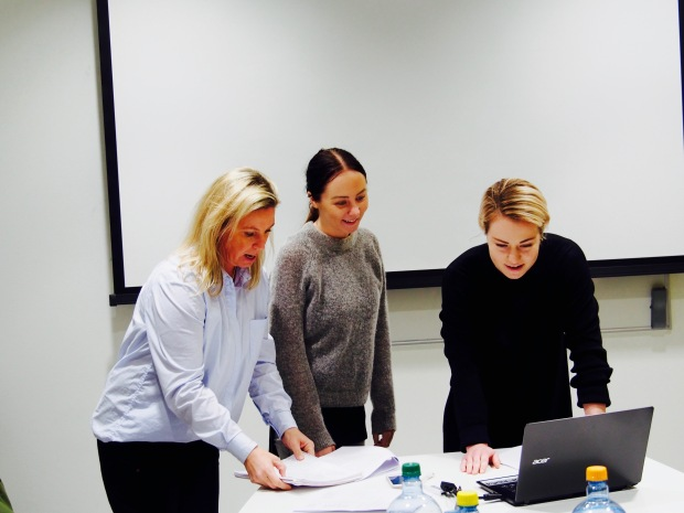 Kristine Berg, Eline Andersen og Kristin Juliebø